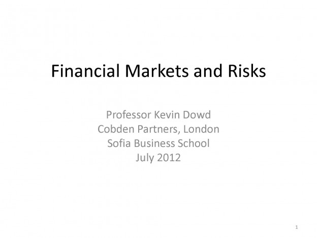 Financial Markets Risks, Kevin Dowd