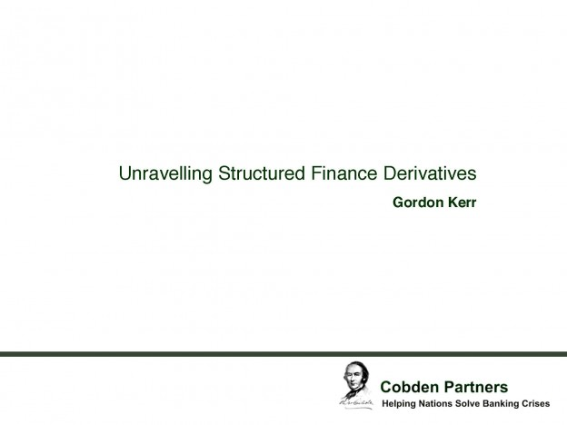 Tax Derivatives, Gordon Kerr