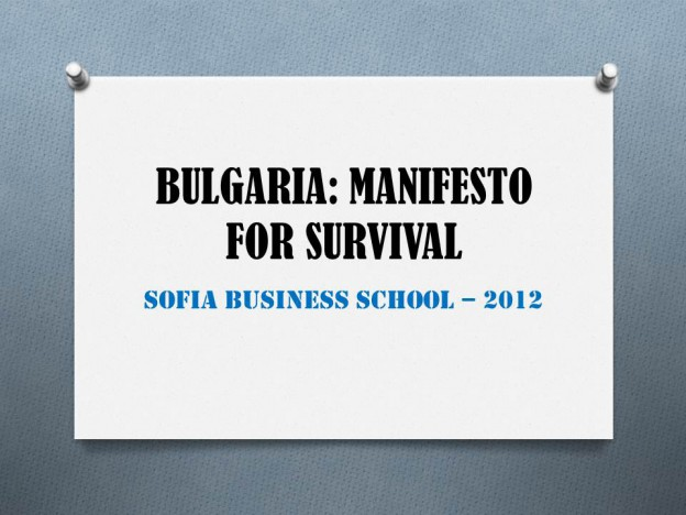 SBS 2012 Manifesto for Survival