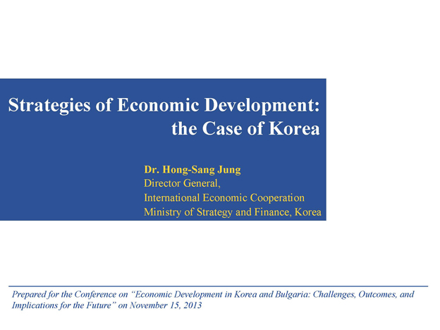 HongSangJung-Strategies of Korea's Economic Development_2013
