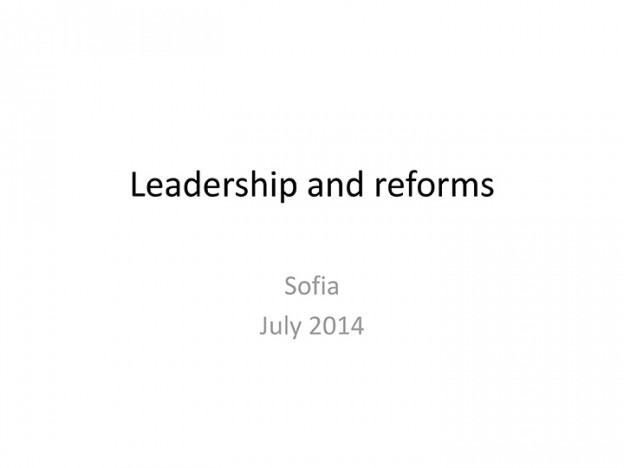 Kakha Bendukidze - Leadership And Reforms, 02.07
