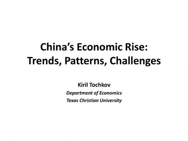 Kiril Tochkov, China's Economic Rise, 01.07.2014