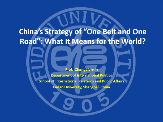 China's silk road strategy: What does it mean to the world, Zhang Jianxin