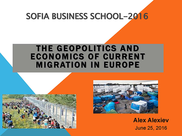The Geopolitics and Economics Of Current Migration In Europe, Alex Alexiev