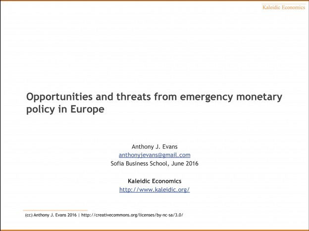 Opportunities And Threats From Emergency Monetary Policy In Europe, Mr. Anthony J. Evans