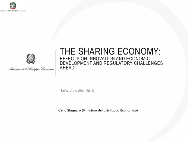The Sharing Economy: Effects On Innovation And Economic Development And Regulatory Challenges Ahead, Mr. Carlo Stagnaro